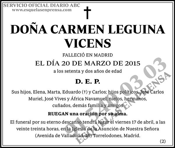 Carmen Leguina Vicens